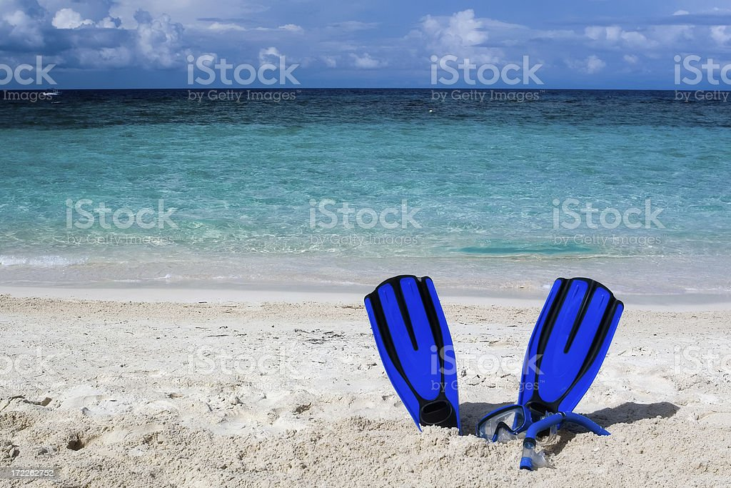 Snorkeling equipment royalty-free stock photo