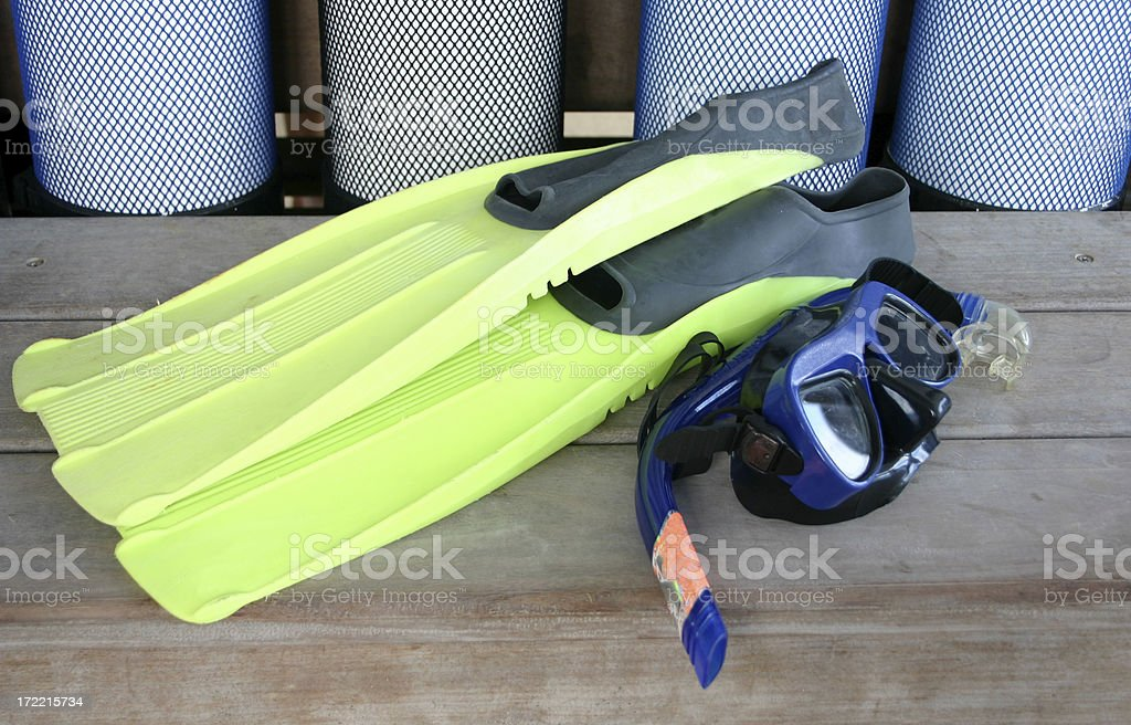 snorkeling gear royalty-free stock photo