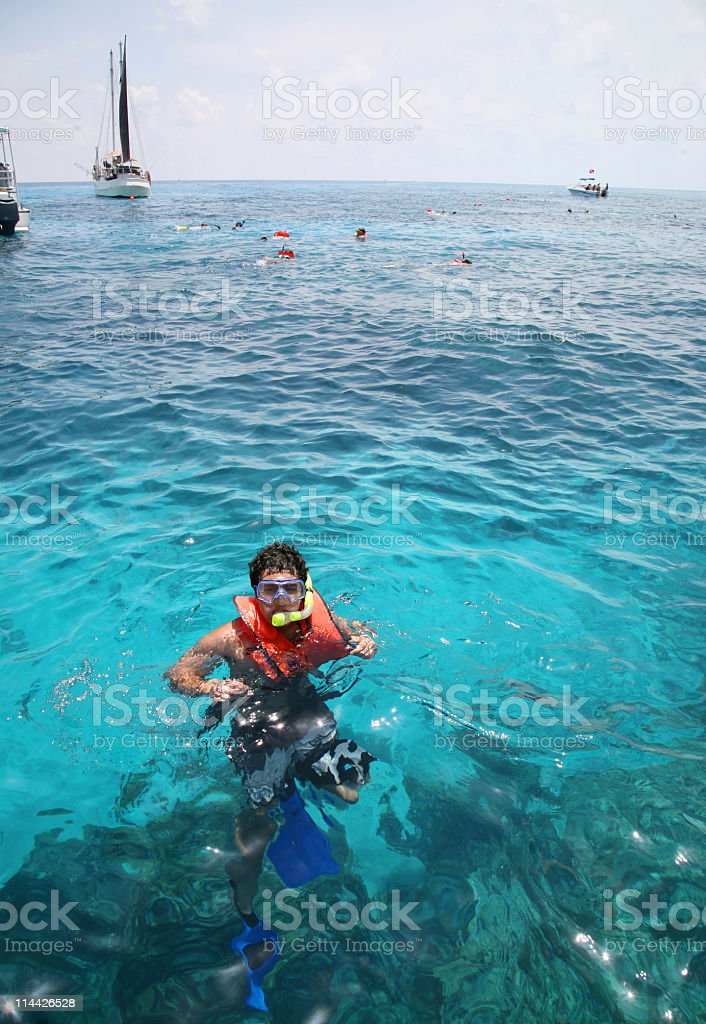 snorkeling in Florida stock photo