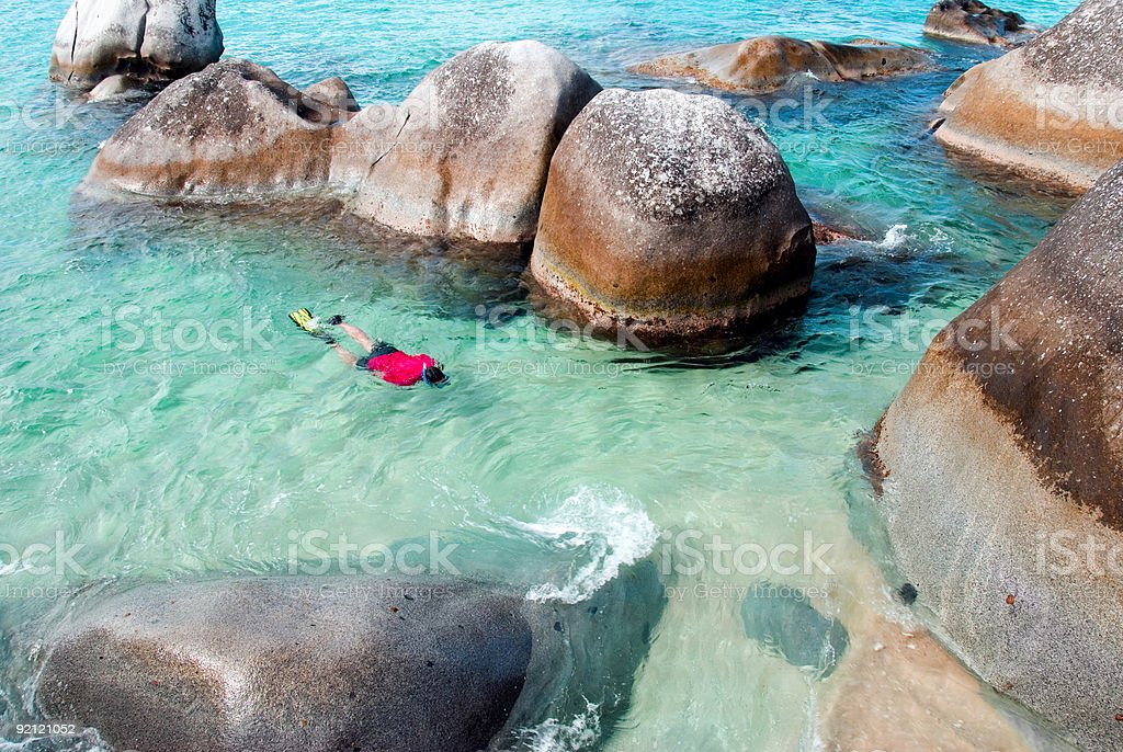 Snorkeling in the BVI stock photo