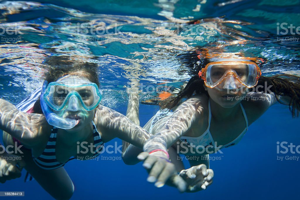 Snorkeling in the Mediterranean. royalty-free stock photo