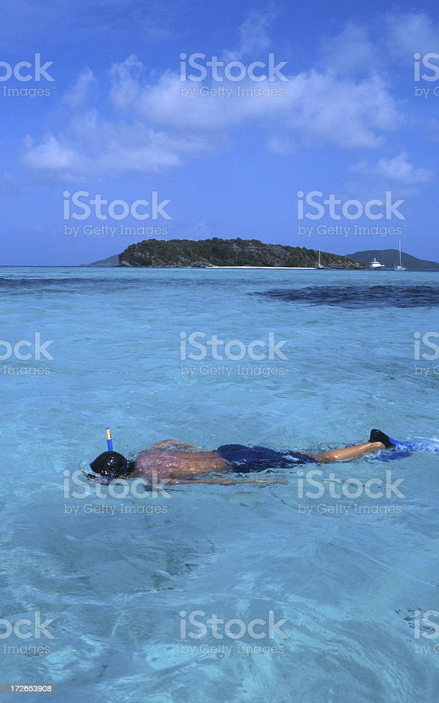 Snorkeling in the Tabago Cays Caribbean Sea royalty-free stock photo