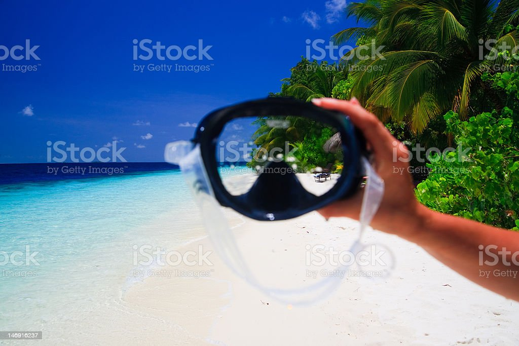 snorkeling mask royalty-free stock photo