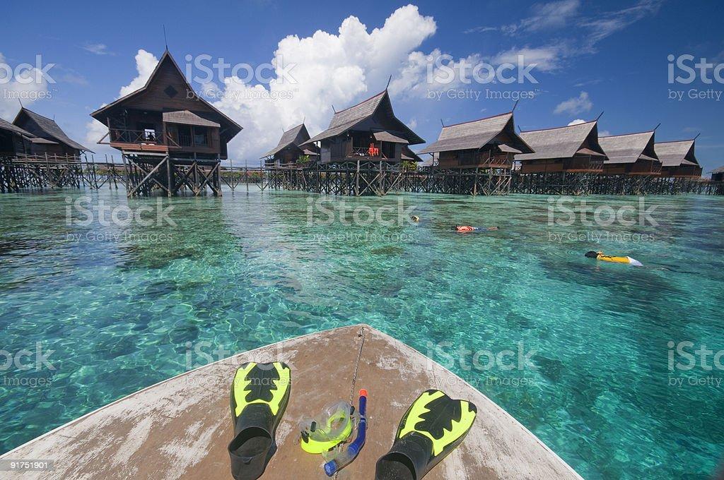 Snorkeling set royalty-free stock photo
