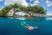 Snorkeling the Rock Islands Arch