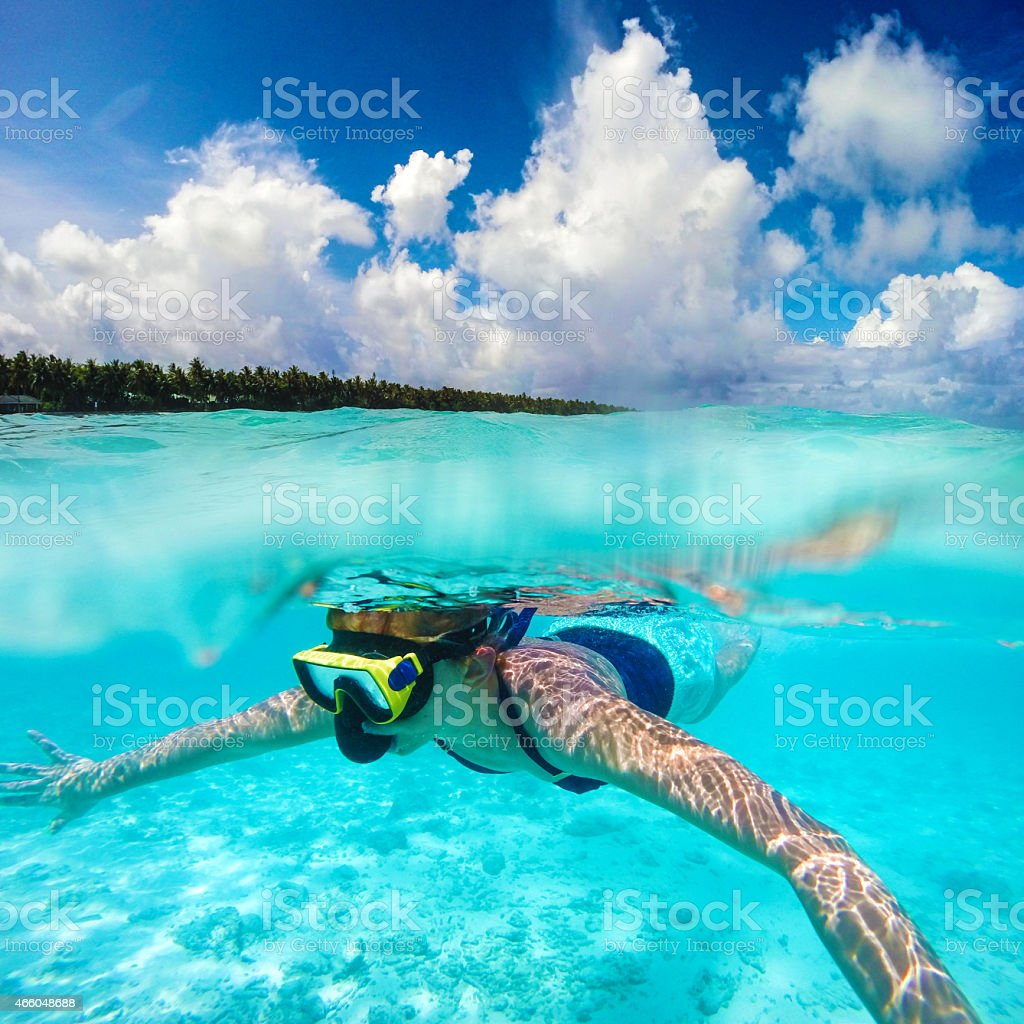 Snorkeling time stock photo