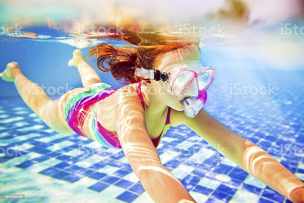 Snorkeling underwater royalty-free stock photo