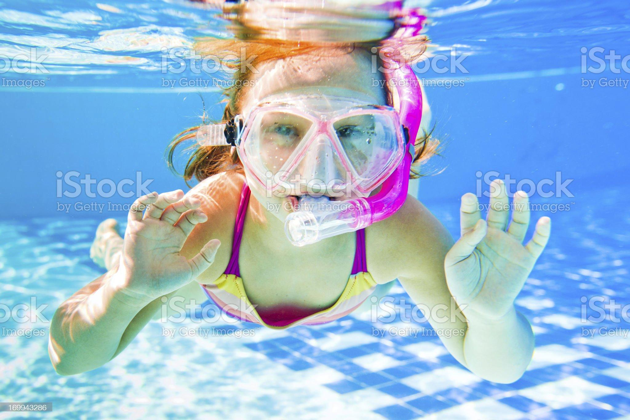 Snorkeling underwater royalty-free stock photo