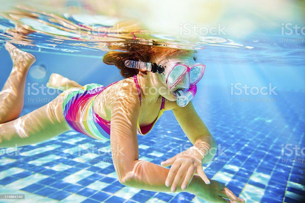 Snorkeling underwater stock photo