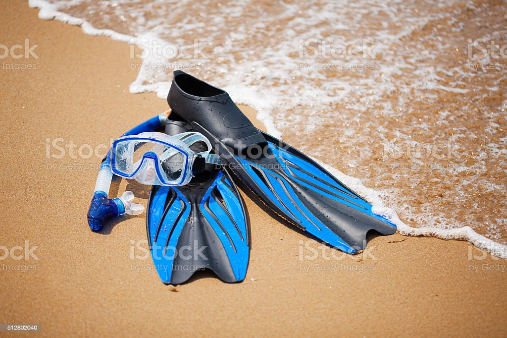 Snorkelling equipment stock photo