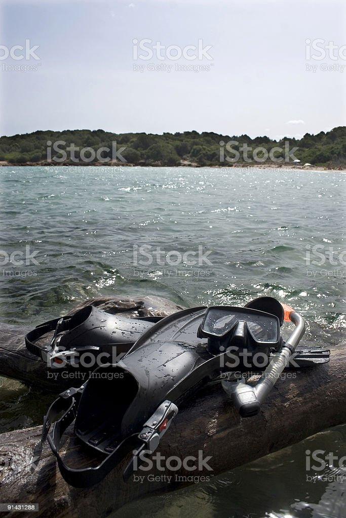 Plongée avec masque et tuba photo libre de droits