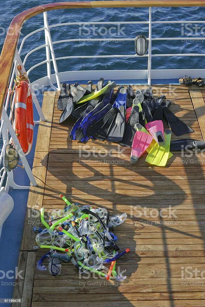 Snorkels, Masks, and Fins royalty-free stock photo