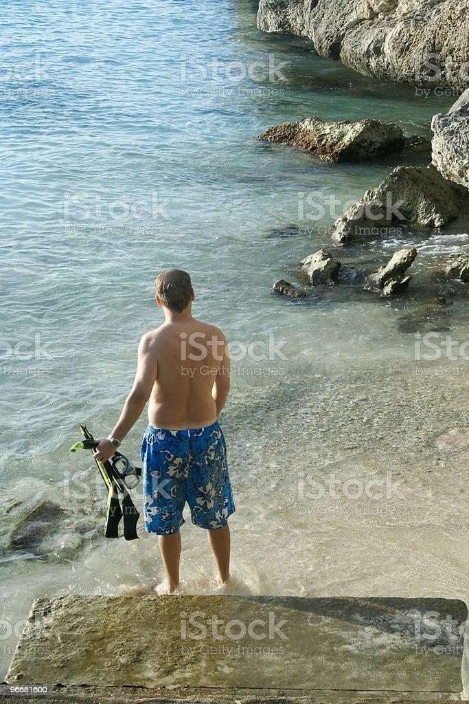 Snorkler royalty-free stock photo