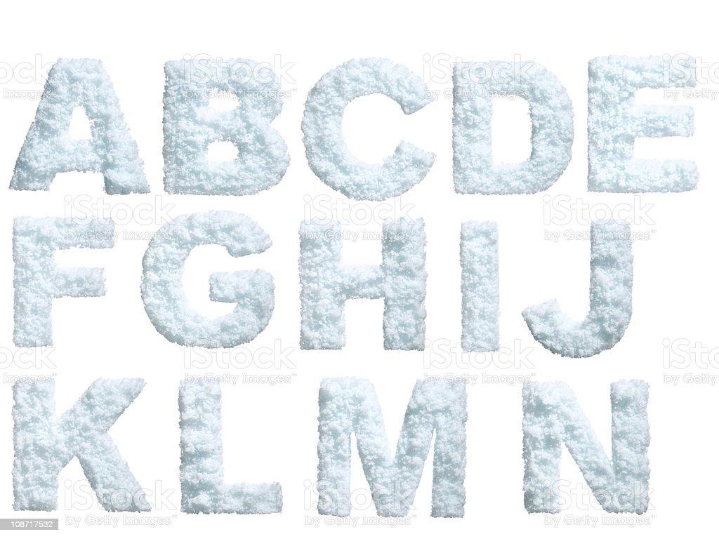 Snow alphabet royalty-free stock photo