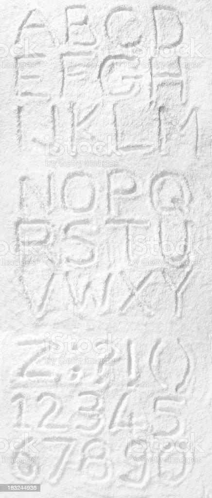 Snow alphabet stock photo