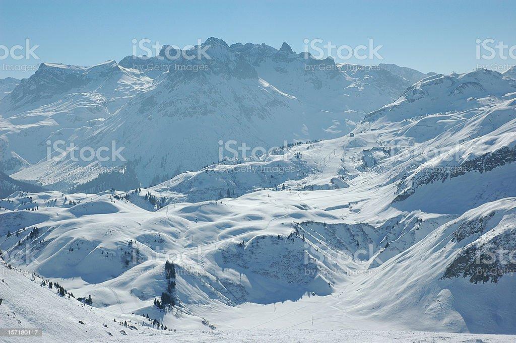 Snow alps mountains stock photo