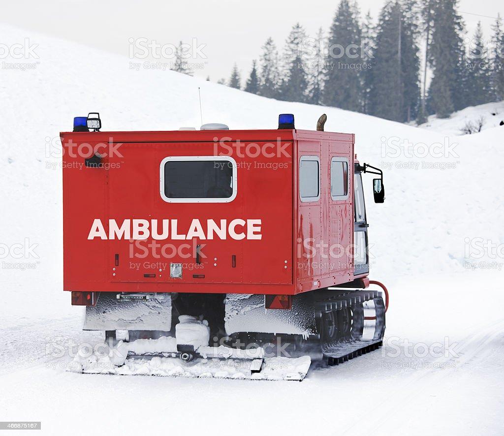 snow ambulance royalty-free stock photo