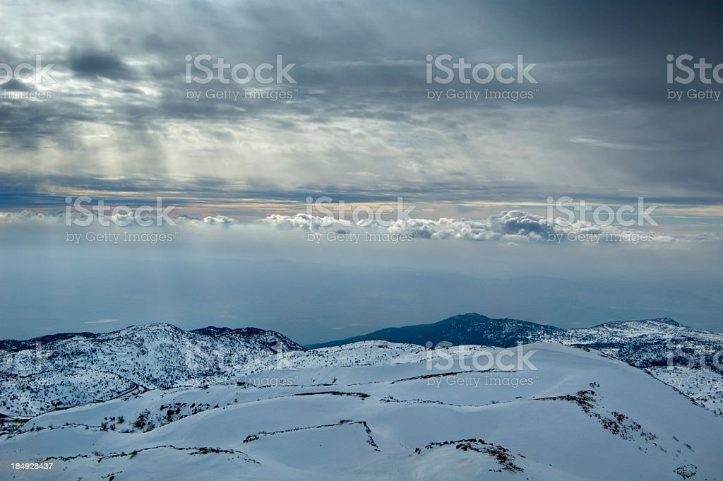 Snow and Clouds royalty-free stock photo