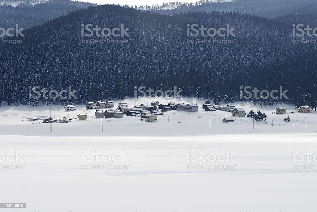 snow and winter stock photo