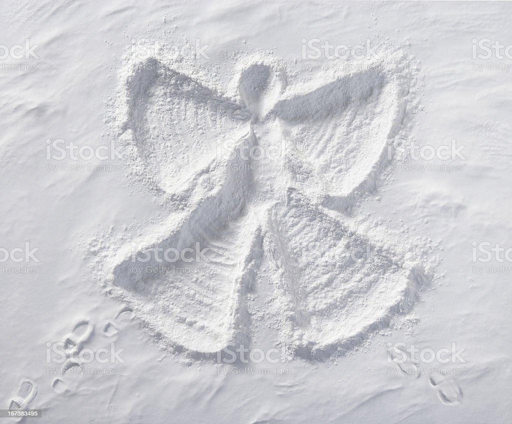 Snow Angel stock photo