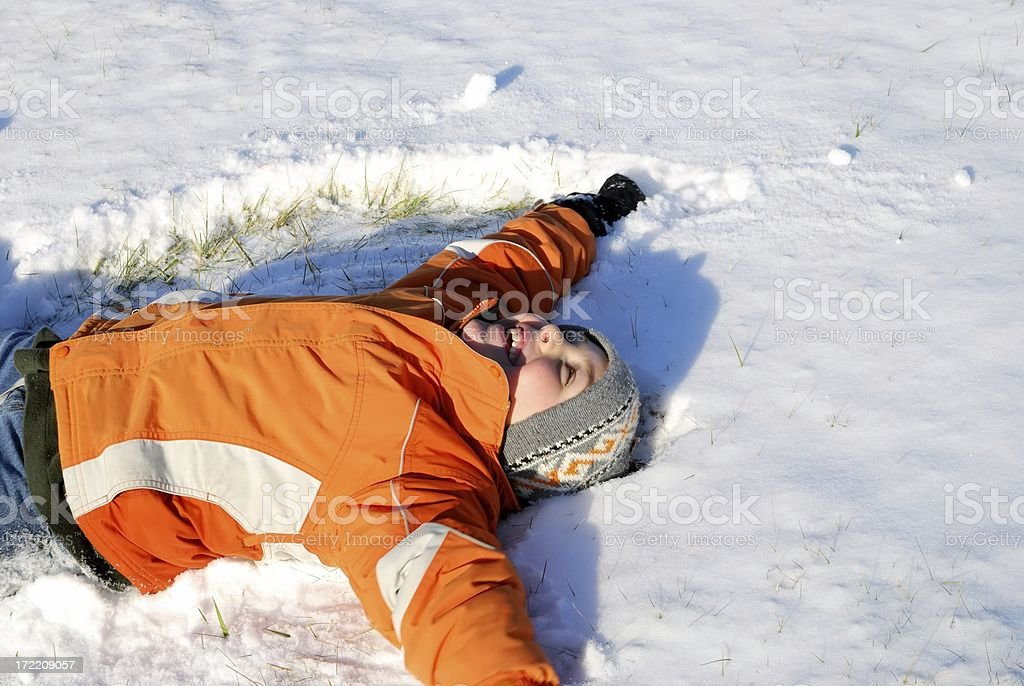 snow angel royalty-free stock photo