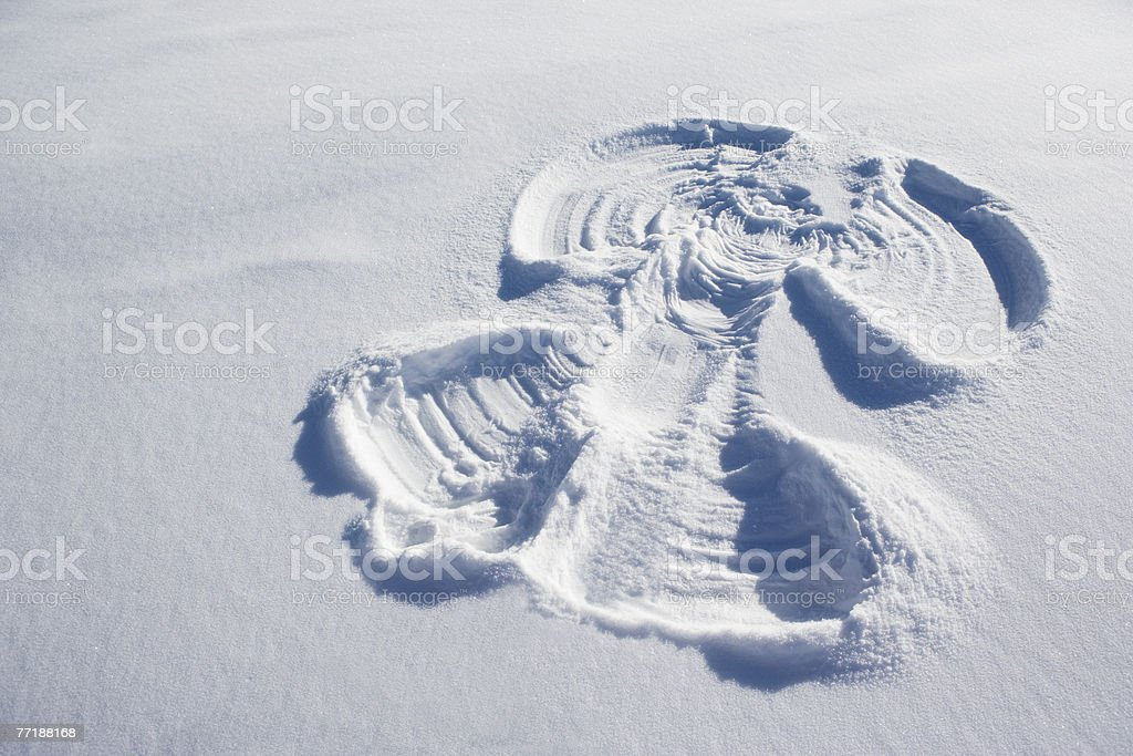 A snow angel royalty-free stock photo
