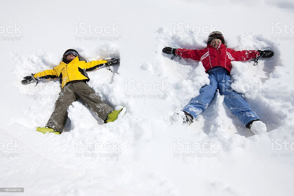 Snow angels royalty-free stock photo