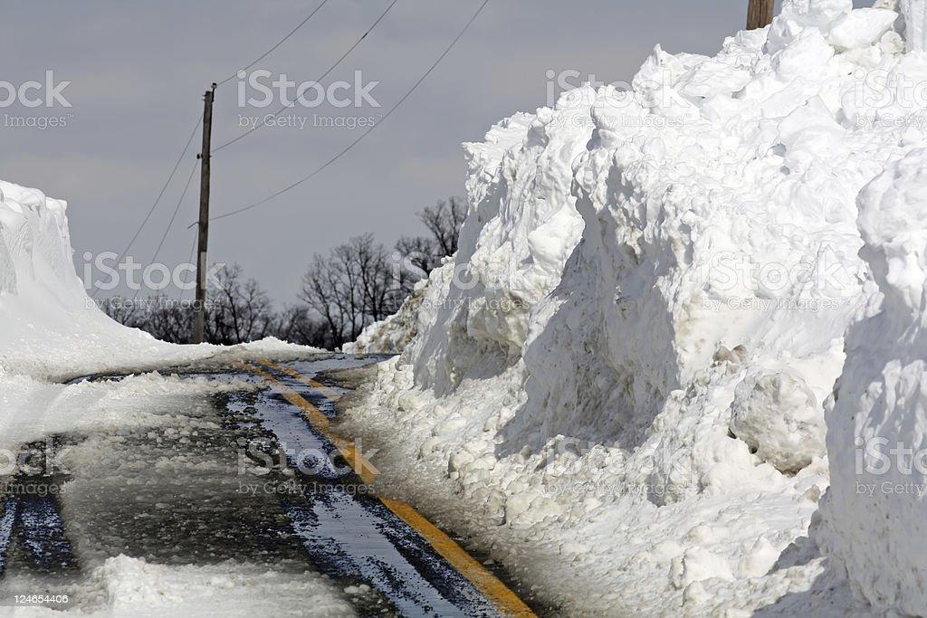 Snow Apocalypse stock photo