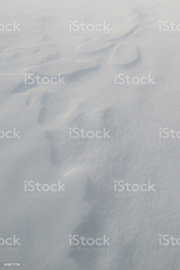 Snow Art: Close up of natural snow formations stock photo