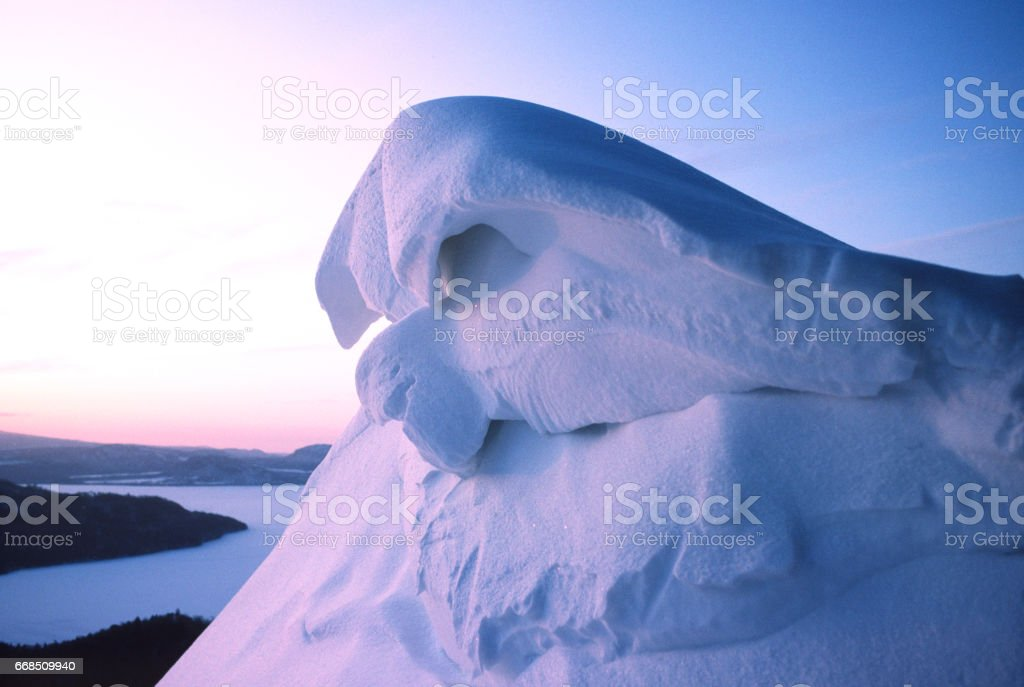 Snow art stock photo