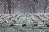 Snow at Arlington National Cemetery