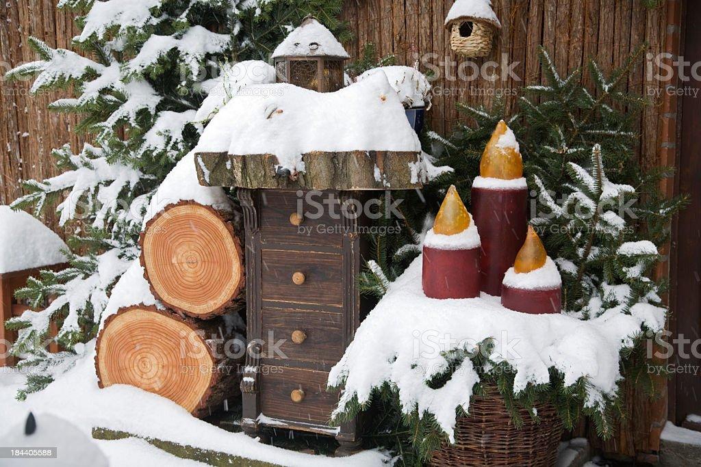 Snow at Christmas royalty-free stock photo