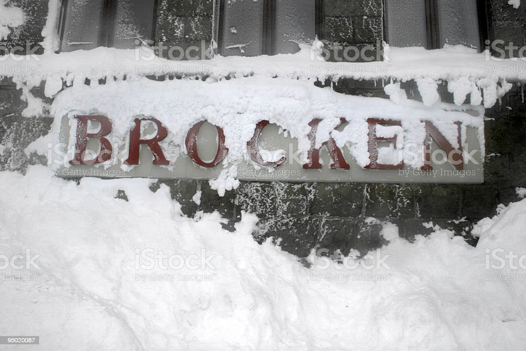 Snow at the german Brocken mountain stock photo