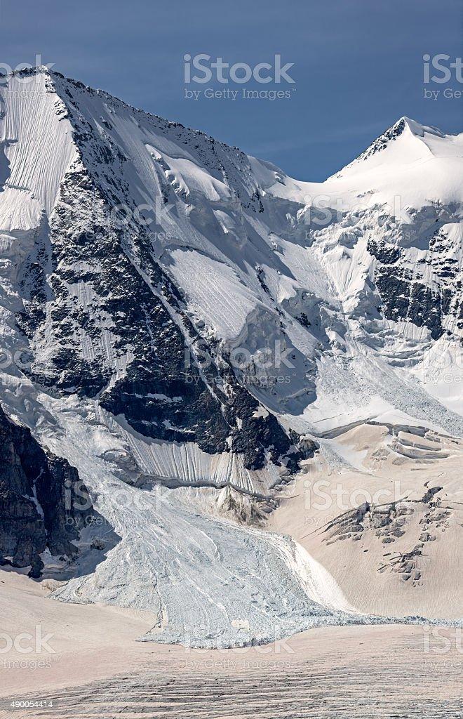 Snow avalanche stock photo