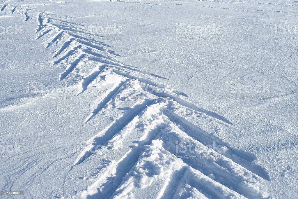 Snow background with ski track royalty-free stock photo