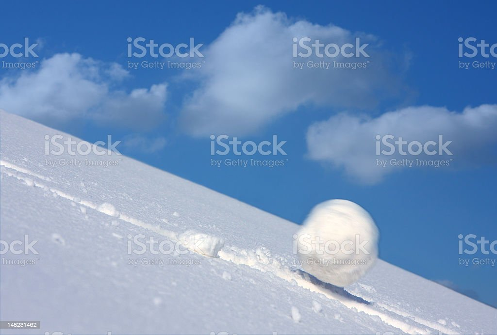 Snow ball stock photo