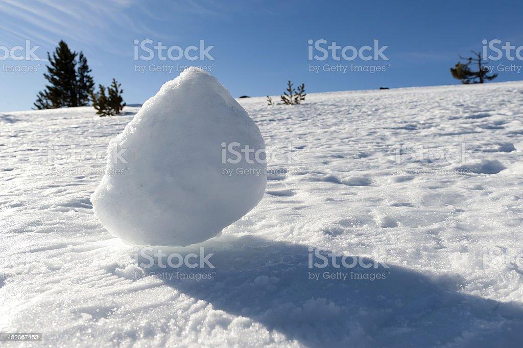 Snow Ball royalty-free stock photo