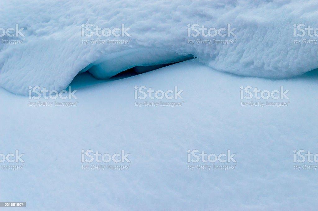 Snow Bank stock photo