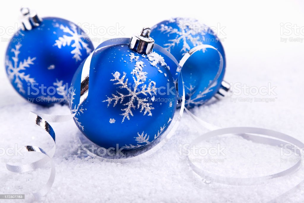 Snow Baubles (XL) royalty-free stock photo