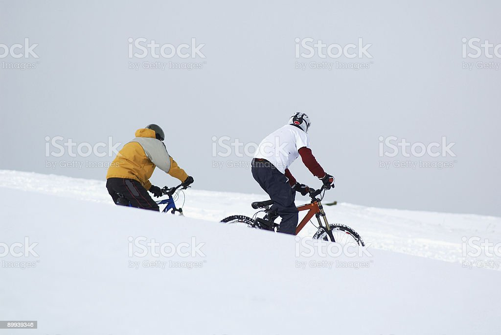 Snow bikers royalty-free stock photo