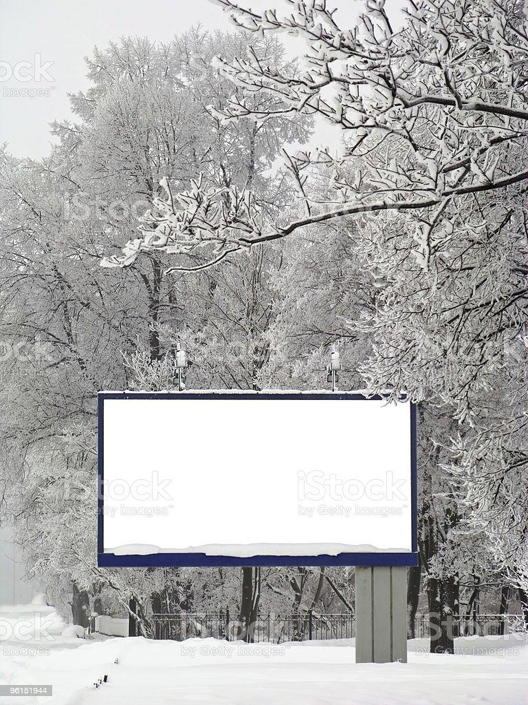 Snow billboard royalty-free stock photo