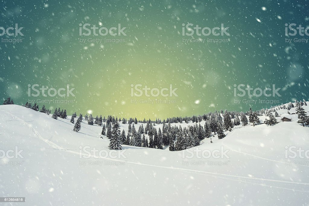 Snow blizzard stock photo