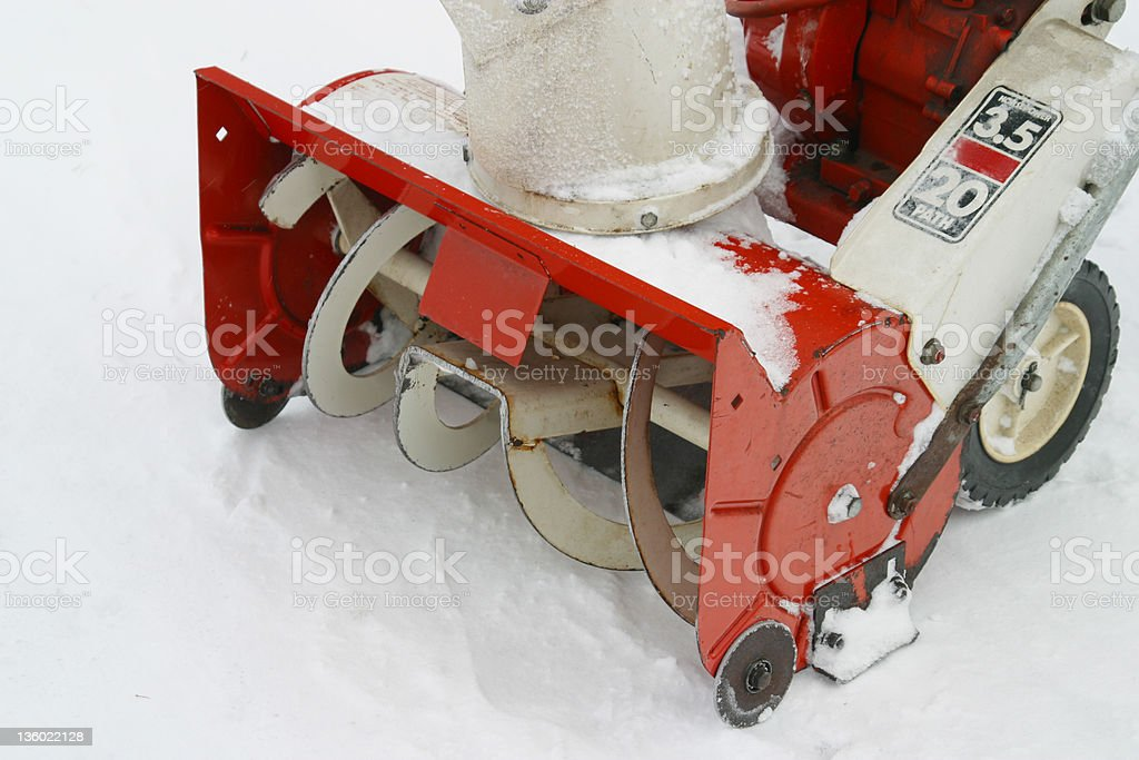 Snow Blower 2 royalty-free stock photo
