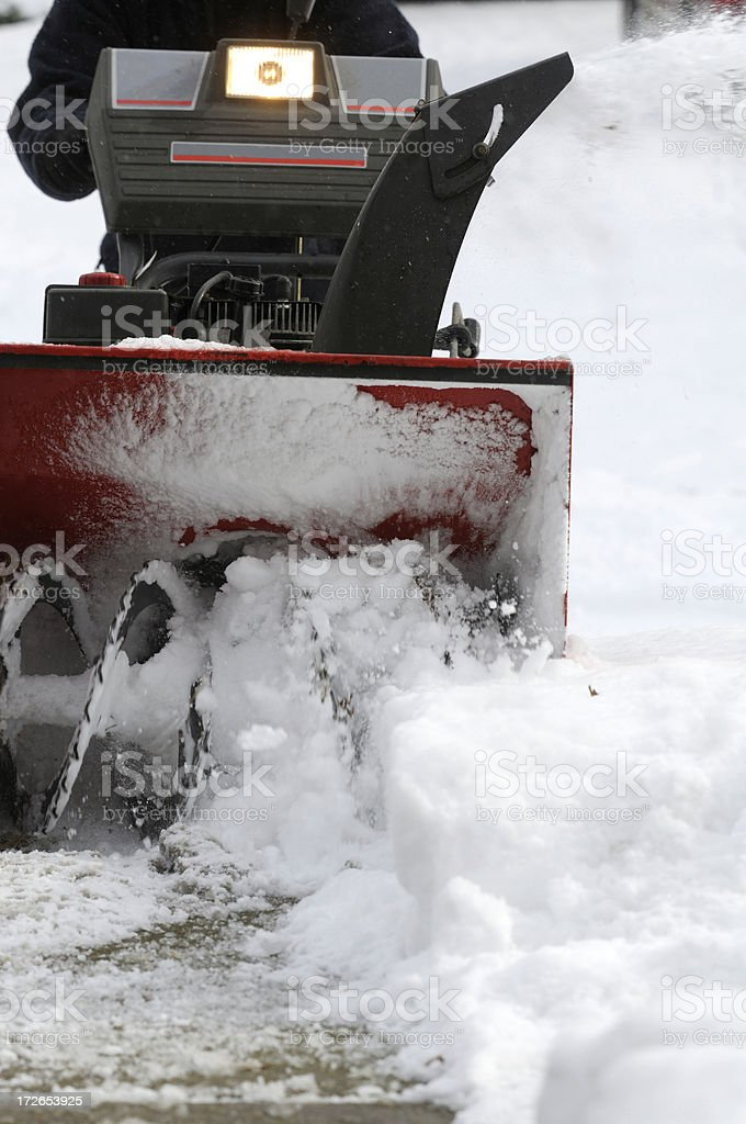 Snow blower in action. royalty-free stock photo