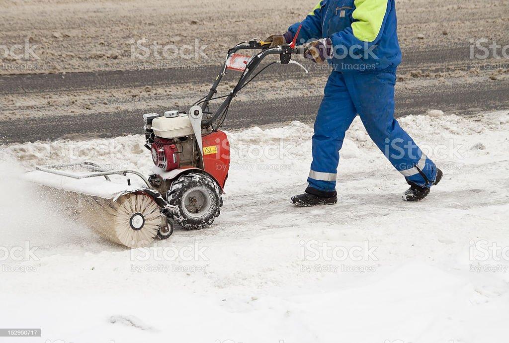 Snow blower royalty-free stock photo