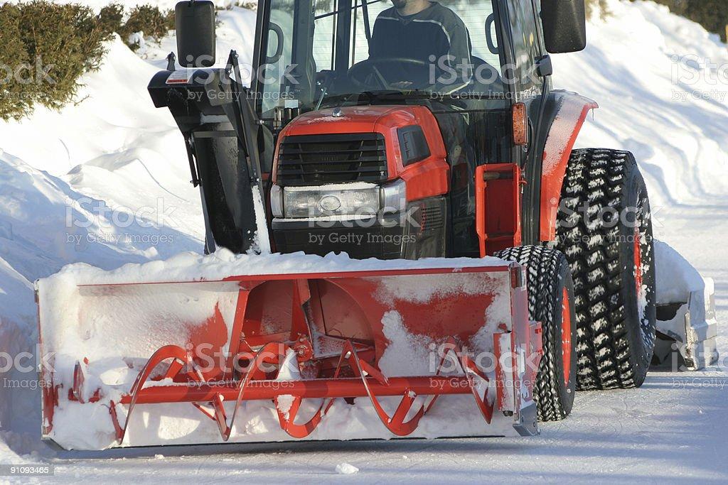 snow blower stock photo