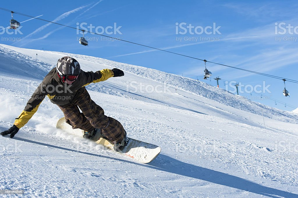 Snow boarder royalty-free stock photo