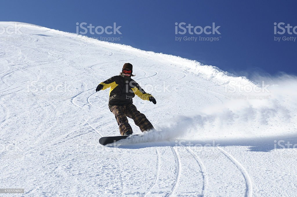 Snow boarder stock photo