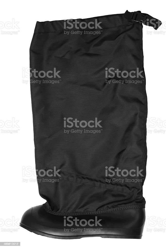 Snow boot covers stock photo