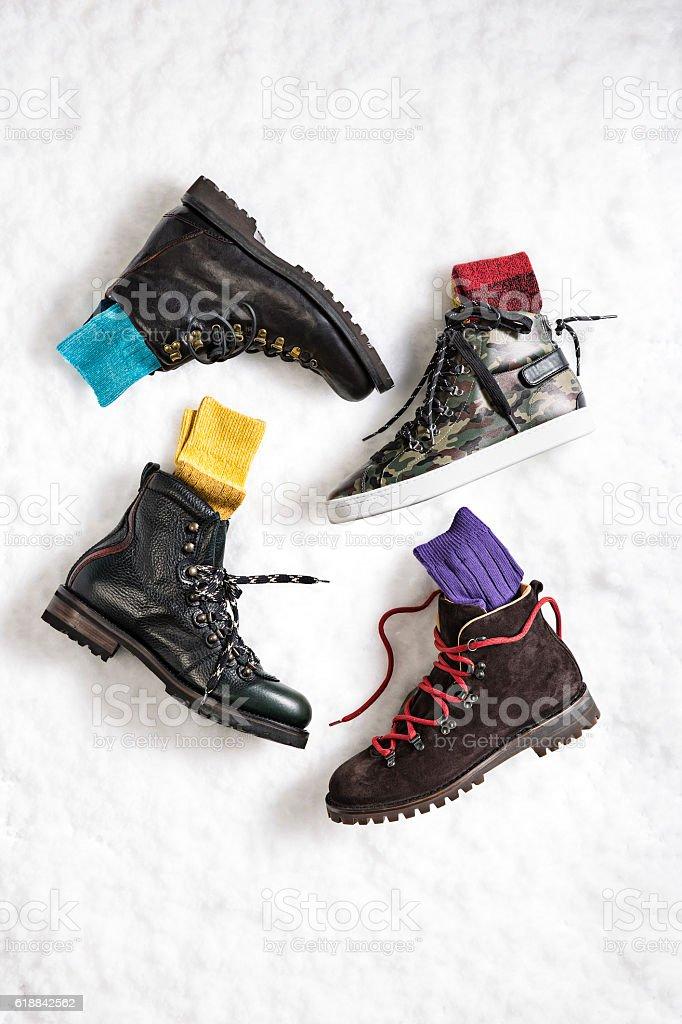 snow boots stock photo